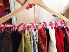 COme enere in ordine le sciarpe. #DIY idee #creative su www.donna-in.com