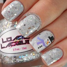Best Winter Nails for 2017 - 67 Trending Winter Nail Designs - Best Nail Art Winter Nail Designs, Christmas Nail Designs, Cute Nail Designs, Christmas Design, Christmas Snowman, Easy Designs, Holiday Nail Art, Winter Nail Art, Winter Nails