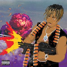 "Advertisement - ""Armed and Dangerous"" Juice WRLD Poster Wall Art Music Album Home Decor Printed Rapper Wallpaper Iphone, Rap Wallpaper, Cover Wallpaper, Cartoon Wallpaper, Cover Art, Rap Album Covers, Music Covers, Rapper Art, Dope Wallpapers"