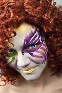 Mardi Gras Airbrush Stencils. #face painting, #airbrush paints, #airbrush - Artist Nix Herrera