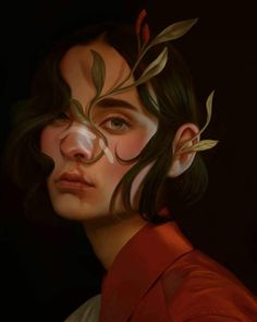 Illustration Art by Aykut Aydoğdu. Aykut Aydoğdu, Turkey is an artist born in 1986 in Ankara. Aydoğdu, who has worked on art. Art And Illustration, Illustrations, Website Illustration, L'art Du Portrait, Portrait Paintings, Oil Paintings, Bild Tattoos, Digital Art Girl, Pretty Art
