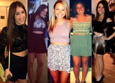 Crop tops are great with high waisted skirts! ^AS #Fashion #Style