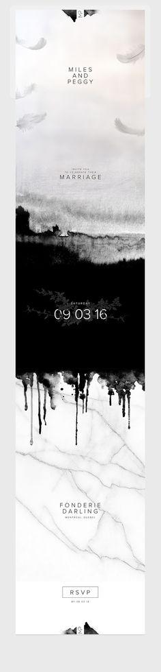 Custom Digital Wedding Invitation / Event & Wedding Website / Black & White / Modern