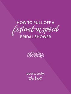 Music-festival-loving brides will be California dreamin' from this picture-perfect bridal shower before the wedding!