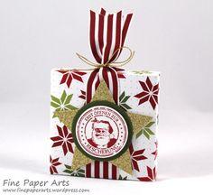 Stampin up - Envelope Punch Board Box, Stanz- und Falzbrett für Umschläge, Verpackung Weihnachten, Christmas Box, DSP Fröhliche Feiertage, Merry Moments Designer Series Paper, Antique Tags, Stempelset Nostalgische Weihnachten - Fine Paper Arts