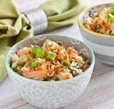 Салат с кальмарами, рисом и креветками