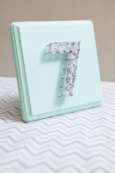 DIY wedding | how to make string art table numbers the easy way!