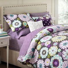 This is the bedding Calissa wants for her bedroom. Madison Duvet Cover from Pottery Barn. I am pretty sure I love it! #potterybarnkids