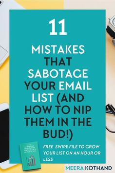 Worried about your email list growth? Wondering how to get more subscribers? In this post I talk about 11 mistakes that are stumping your list growth and provide you with tips on how to fix them.   Looking for ideas on how to grow your list, get the swipe file with 43 bite-sized hacks that grow your list on less than an hour a day.