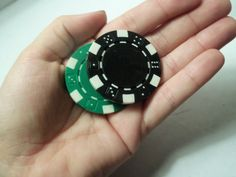 Poker Chip Magnets  Set of 5 by jennascifres on Etsy, $3.00