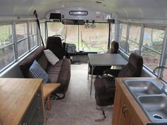 Tiny Houses:Small Spaces — Converted School Bus For Sale- $10,000
