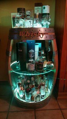 Whiskey Barrel Decor, Wine Barrel Bar, Whiskey Barrel Furniture, Wine Barrels, Basement Bar Designs, Home Bar Designs, Tonneau Bar, Moderne Lofts, Barrel Projects
