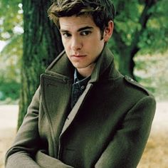 Andrew Garfield...IN A TRENCHCOAT