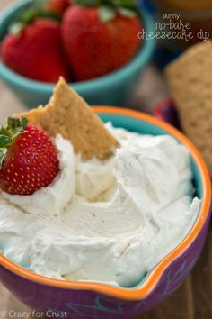 This Skinny Cheesecake Dip has low-fat and low-sugar options to fit every diet.