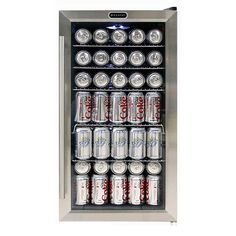 Whynter 17 in.) Can Cooler in Black/Stainless Steel Stainless steel trimmed glass door with sleek black cabinet - Beverage Refrigerator - Ideas of Beverage Refrigerator - Whynter 17 in.) Can Cooler in Black/Stainless Steel