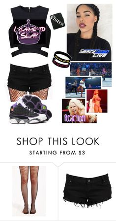 """ Brittany  Smackdown Live  Wardrobe malfunction"" by queenofwrestling ❤ liked on Polyvore featuring WWE, EvaMarie and SmackdownLIVE"