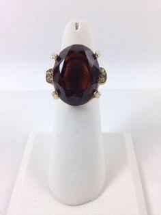 Vintage Fashion Jewelry Ring- Bronze/smokry gold tone Statement adjustible #Unknown #Statement