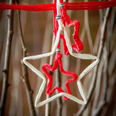 Make Christmas decorations with string or jute twine to decorate the tree, make a display or attach to a gift.