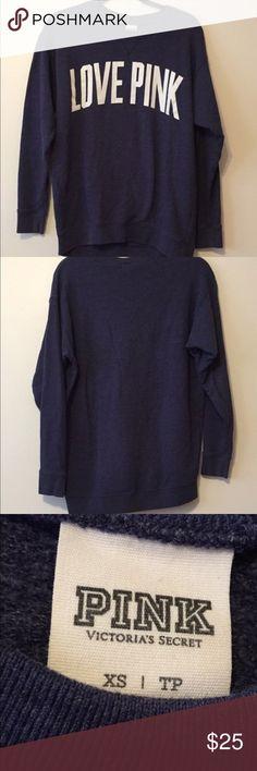 Pink sweatshirt Vs pink sweatshirt great condition size XS but very roomy PINK Victoria's Secret Tops Sweatshirts & Hoodies