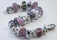 Trollbead inspiration! Nice combination in white black an violet