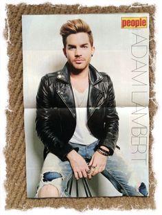 Adam Lambert centre spread poster in SAfrican People mag. June 26, 2015. pic.twitter.com/shNatf3mVp