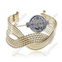 Trendy Womens Cuff Bracelet Quartz Wrist Watch Features  100% New Bracelet Watch