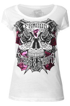 Famous Stars and Straps World Classic T-shirt Black White
