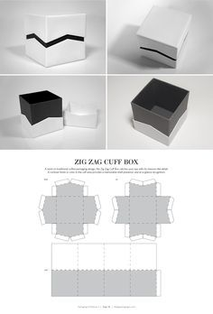 Zig Zag Cuff Box – FREE resource for structural packaging design dielines