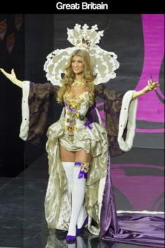 Miss Universe Pageant Parade of National Costumes .... This one is Great Britain!   Awesome!!