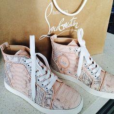 Christian Louboutin hightop sneakers | via Tumblr