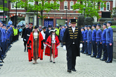 The Mayor's Parade recently took place around the streets of Rotherham Town Centre, after the installation of the new Mayor, Cllr Maggi Clark.