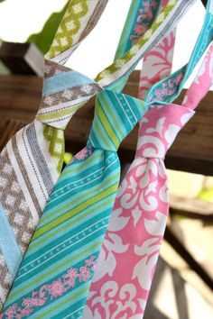 Child Neck Tie Spring Garden Collection by littlevys on Etsy, $20.00
