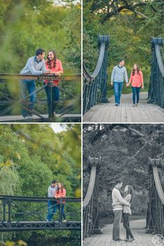 ellyse + mark // forest park engagement session // iron bridge