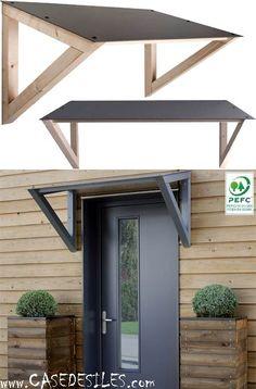 Auvent en bois en Vente Flash : Auvent porte fenetre bois composite 447
