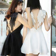 Angelic wings dress