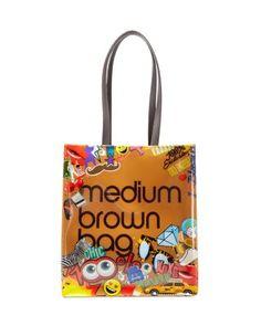 Bloomingdale's Allover Emoji Medium Brown Bag Tote | Bloomingdale's