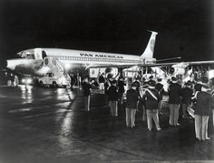 First U.S. Commercial Jet Service - FlyPanAm  Pan American flew its Boeing 707 Clipper America from New York to Paris on October 26, 1958.