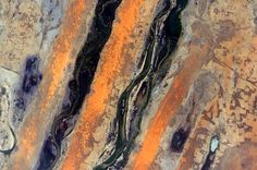 #EarthArt Striped #Africa. #YearInSpace  #Earth #art #stripes #desert #space #spacestation #iss