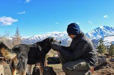 Fazendo novos amigos  no Chile. Bom final de semana amigos ...  #chile #americadosul #sudamerica #viagem #férias #vacaciones #trip #travel #inverno #photooftheday #santiago #invernofiero #soufiero #voudefiero #farellones #neve #nieve #snow #dog #cachorro #friends #weekend