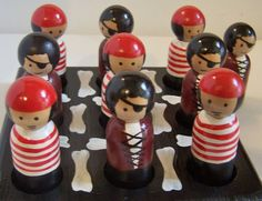 Pirate Peg Doll Character TIC TAC TOE Game by tdcraftycreations, $27.50