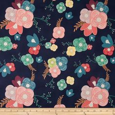 Art Gallery Happy Home Voile Table Flowers Cheer from @fabricdotcom  Designed for Art Gallery Fabrics, this finely woven voile fabric is perfect for creating stylish blouses, shirts, or dresses and skirts with a lining. Colors include white, blue, red, pink yellow and teal.