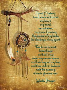 """Lakota Prayer Dream Catcher"" Poster by Irisangel | Redbubble"