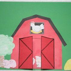 Peek-A-Boo Barn - Kids Craft - boerderij schilderen en dieren en later in plakken