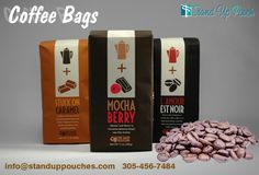 We offer #CoffeeBags and #Pouches in a wide range of styles, sizes and colors. More Information Visit   at  http://www.standuppouches.com/coffee-bags.html