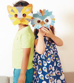 DIY Masks / Petite Collage book