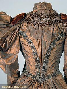 Augusta Auctions, iridescent silk daydress, 1895