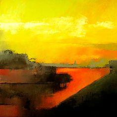 Bremen Harbor - Irma Cerese - North American painter