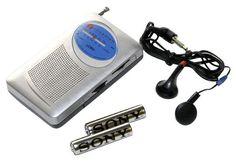 Am/Fm Radio w/ Headphones (batteries included)