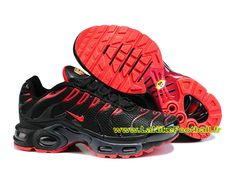 Nike Air Max Tn/Tuned Requin 2015 - Chaussures Pas Cher Pour Homme Noir/Rouge