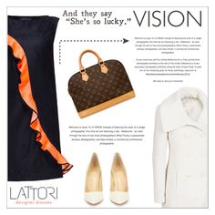 """LATTORI dress"" by water-polo ❤ liked on Polyvore featuring Lattori, Jessica Simpson, Christian Louboutin, Louis Vuitton, women's clothing, women, female, woman, misses and juniors"